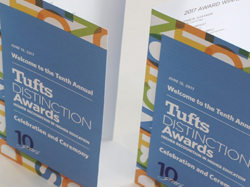 Tufts Human Resources: Distinction Awards Branding