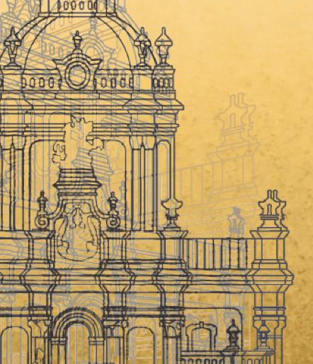 ancient building blueprint
